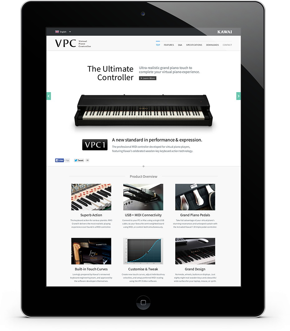 VPC1|Digital Pianos|Products|Kawai Musical Instruments