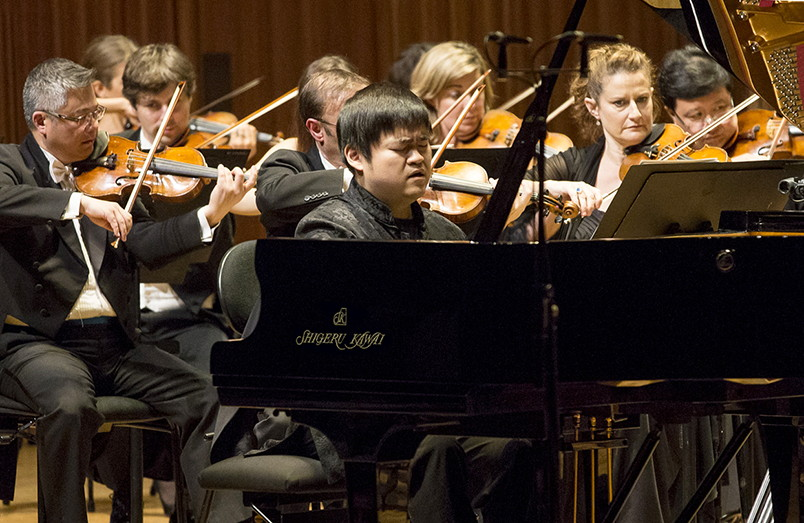 Moye Chen playing the Shigeru Kawai SK-EX during the final stage of the 11th Sydney International Piano competition.