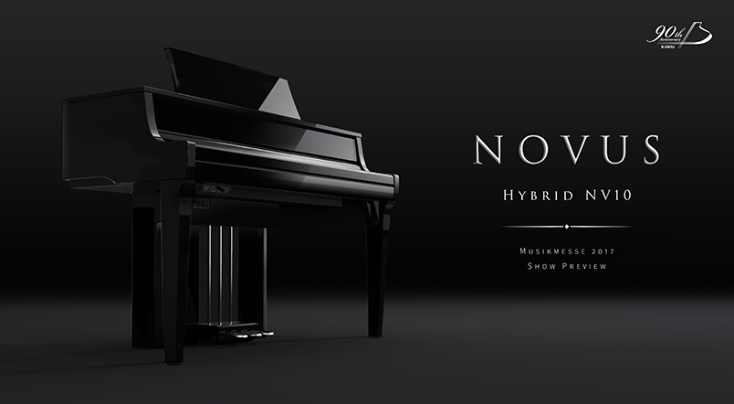 Kawai NOVUS NV10 digital hybrid piano - Musikmesse 2017 Preview
