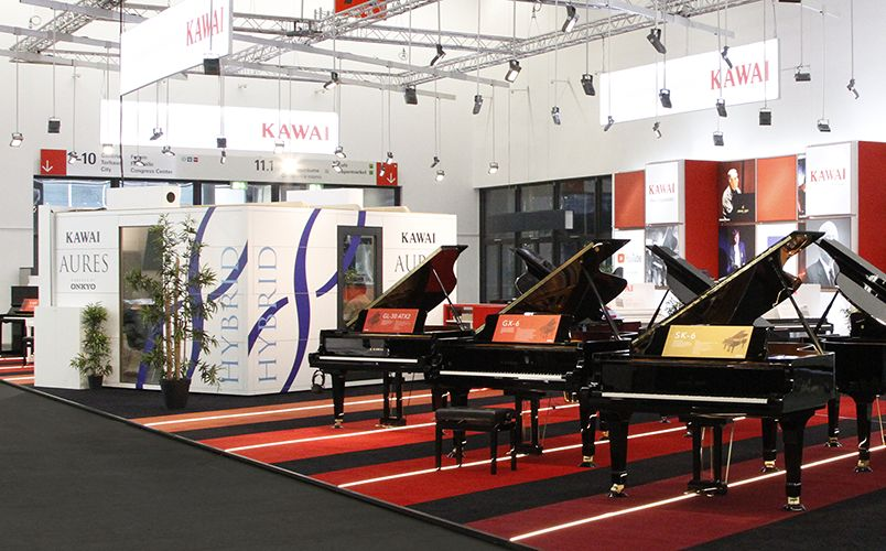 Kawai AURES hybrid upright piano - Musikmesse 2018 Preview