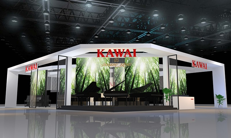 Kawai exhibition area at Music China 2018