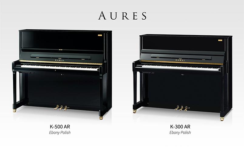 Kawai K-500AR and K-300AR Aures hybrid pianos