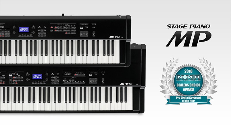 2018 MMR Magazine 'Dealer's Choice' Pro Digital Keyboard Line of the Year: Kawai MP Series