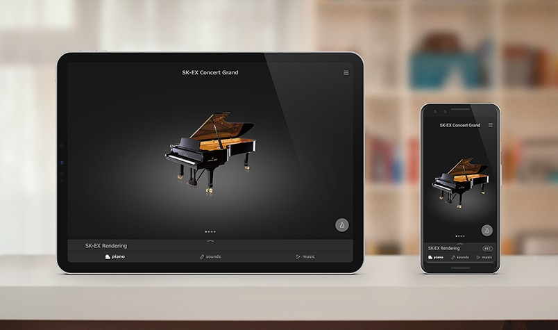 Application PianoRemote pour iOS et Android