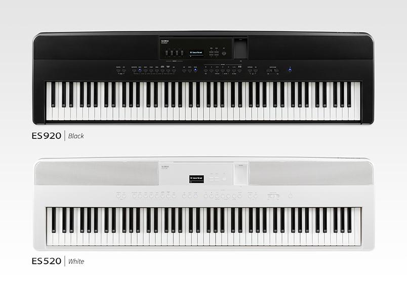 Kawai ES920 & ES520 portable digital pianos