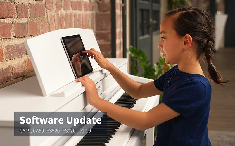 Software Update v1.10 for CA49, CA59, ES520, and ES920 digital pianos.