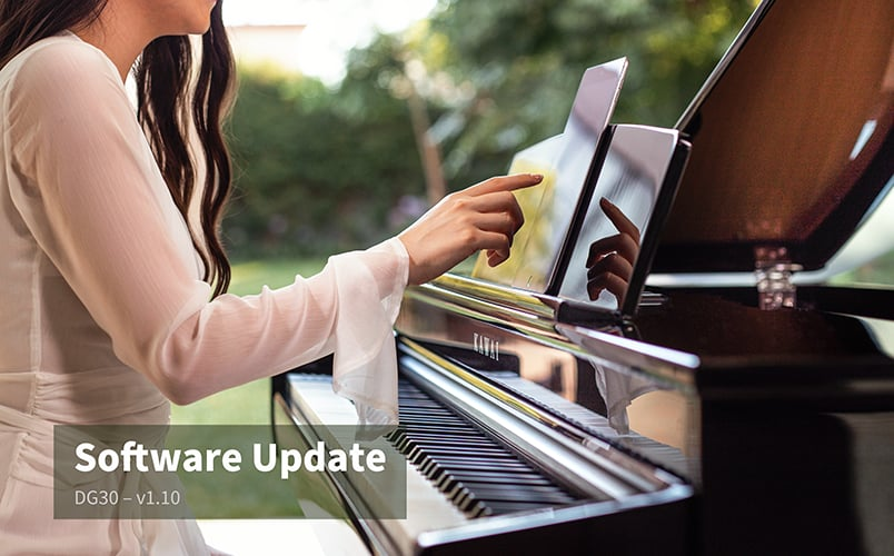 Software Update v1.10 for the DG30 digital grand piano.